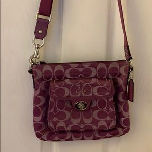 Purple Coach Crossbody Purse